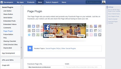 Facebook-Page-Plugin-einstellen