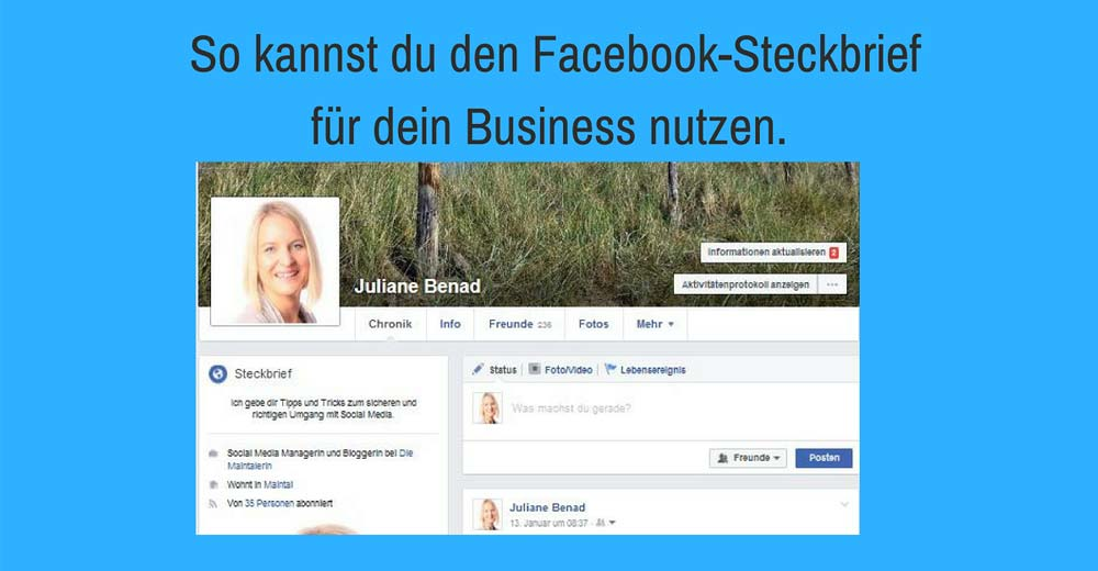 Facebook-Steckbrief